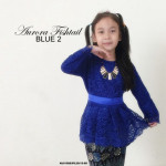 NJ KIDS Collections Prada Lace Aurora Fishtail Kebaya with Printed Batik Skirt