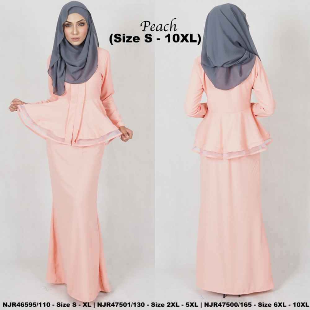 NJBoutique.RTW Exclusive Baju Kebaya Collections - Peach
