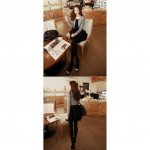 NJ ExclusiveCollections Cropped Formal Jacket with Mini Inner Dress