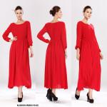 NJ EuropeFashion Elegant Long Dress Red