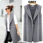 NJ EuropeFashion Sleeveless Coat