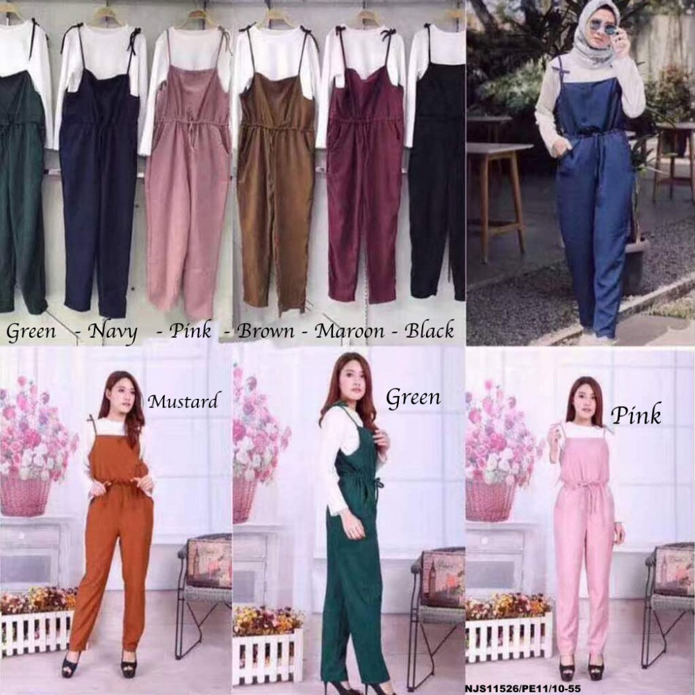 NJ Fashion Mariaa String Jumpsuit [Free Top]