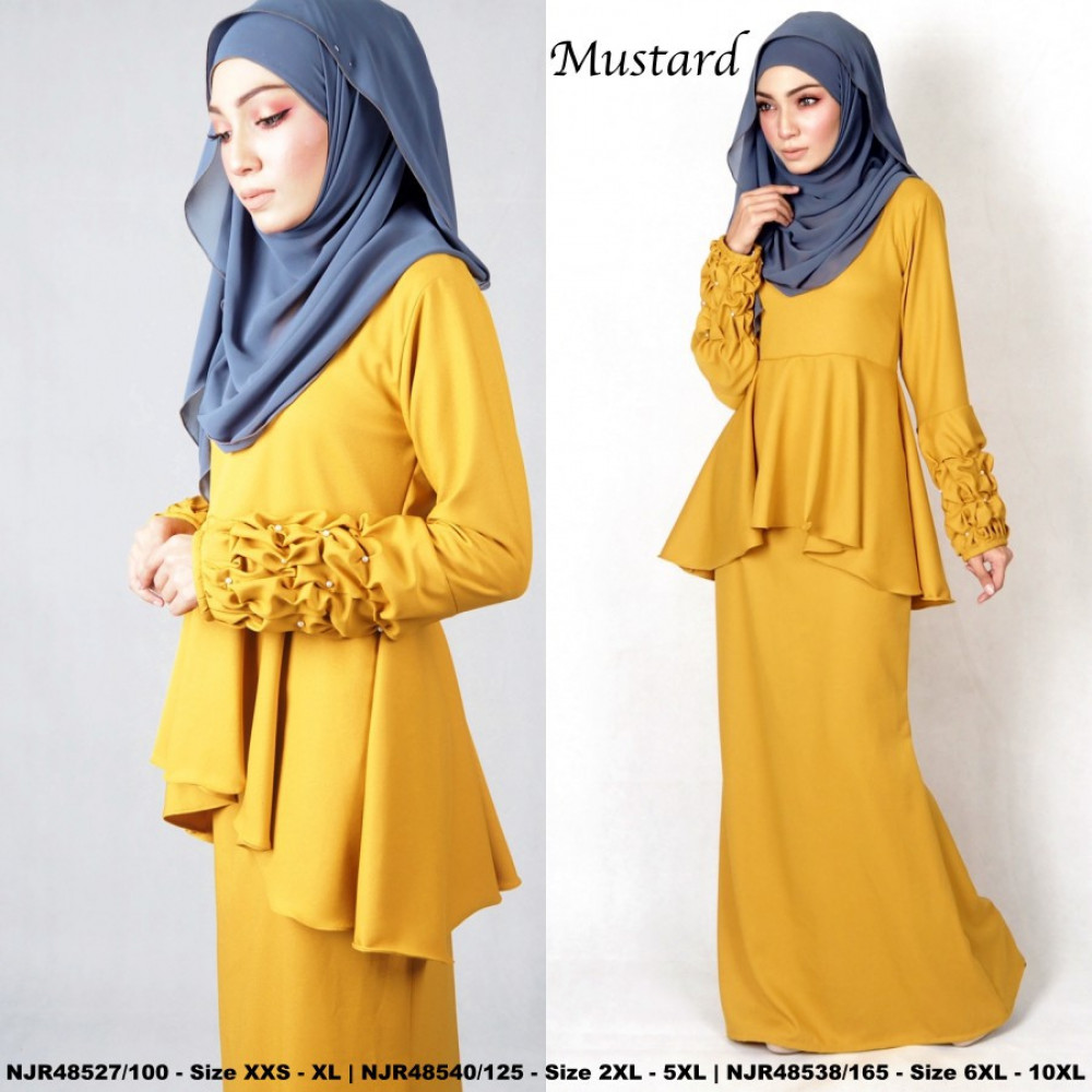 NJBoutique.RTW Exclusive Baju Kurung Collections - Mustard