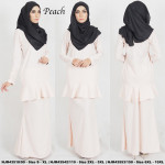 NJBoutique.RTW Exclusive Baju Kurung Collections - Peach