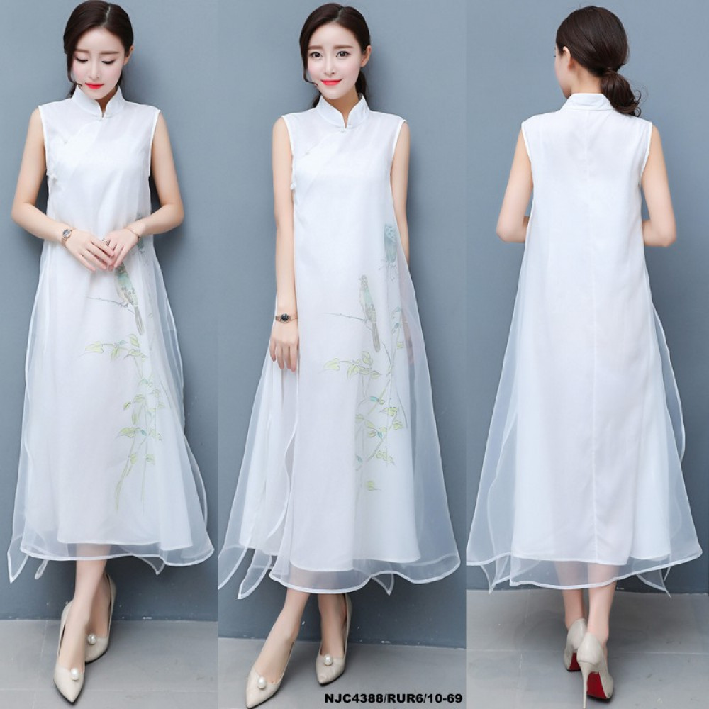 NJ ExclusiveCollections Mandarin Long Dress