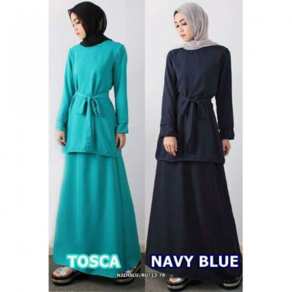 NJ ExclusiveCollections Double Layer Sleeve Modern Kurung (2 Pcs)