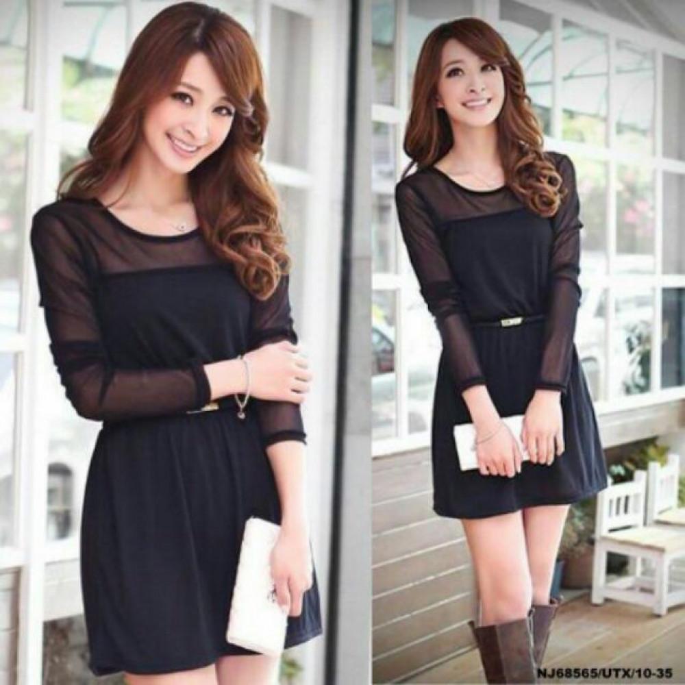 NJ Trendy Dress Black