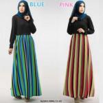 NJ Seoul Mix Color Jubah Dress (Including Shawl)