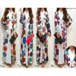 NJ Fashion Abstract Printed Jubah
