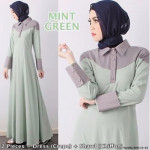 NJ Fashion DuoTone Half Button Collared Neck Jubah