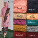 READYSTOCK  SET KURUNG LACE WITH PRISKET SKIRT & SCARF