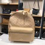 READY STOCK   NJ BRANDED BAG MEDIUM CHARLIE BACKPACK IN SIGNATURE LEATHER (F32083) RU