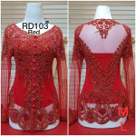 READY STOCK  NJ Krisdayanti Beads Kebaya - RED