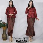 READY STOCK  NJExclusive Cantik Sulam Kurung w Printed Skirt (FREE Belt)