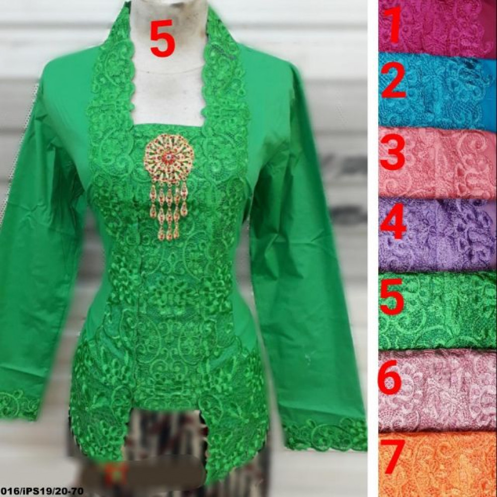 READY STOCK  NJ Exclusive Collections Embroidery Traditional Kebaya