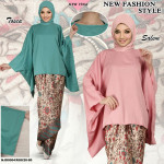 READYSTOCK  ExclusiveCollections Batwing Plain with Satin Pario Skirt