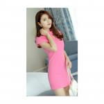 NJ Fashion Elegant OL Dress Pink