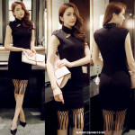 NJ ExclusiveCollection Modern CheongSam - Black