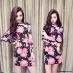 NJ SonataFashion Floral Printed CheongSam - Blossom