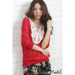 NJ Fashion Crocket Trendy Blouse with Inner