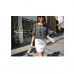 NJ EuropeFashion Stylish Checker Blouse