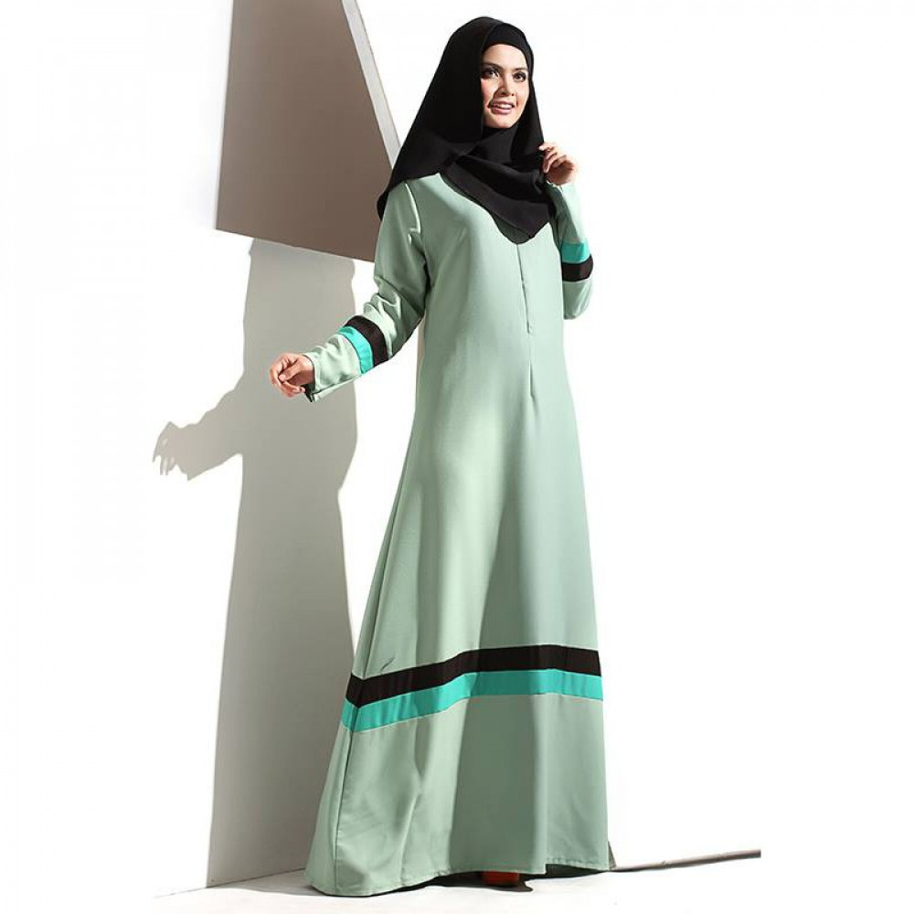 NJ Bella Blocking Jubah - Mix Color Modern Jubah Dress