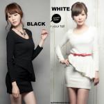 NJ EuropeFashion Candy Long Sleeve Peplum Dress