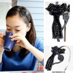 NJ AccessoriesFashion Pretty Beads Cat Shape Hair Band