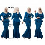 NJ ExclusiveCollections Elegant Peplum Dress [Free Ornament Detail Belt]