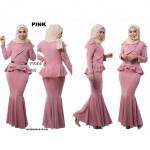 NJ ExclusiveCollections Elegant Peplum Dress [Free Pearl Stylized Belt ]