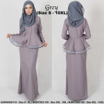 NJBoutique.RTW Exclusive Baju Kebaya Collections - Grey