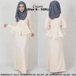 NJBoutique.RTW Exclusive Baju Kebaya Collections - Cream
