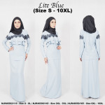 NJBoutique.RTW Exclusive Baju Kurung Collections - Lite Blue