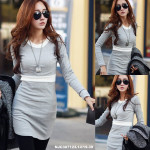 NJ Fashion Trendy DuoTone Dress