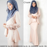 NJBoutique.RTW Exclusive Baju Kurung Collections - Cream