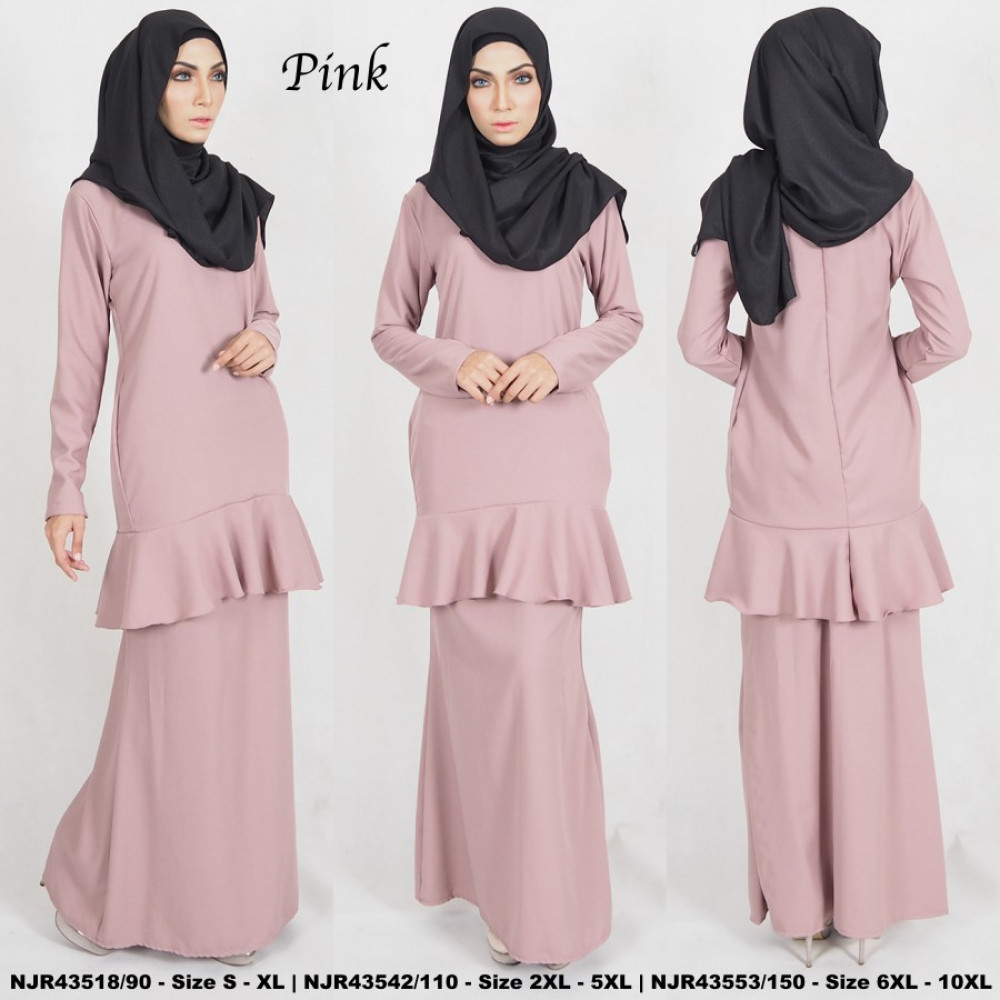 NJBoutique.RTW Exclusive Baju Kurung Collections - Pink