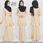 NJBoutique.RTW Exclusive Baju Kurung Collections - Brown