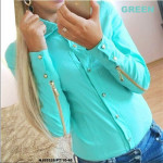 NJ Fashion Stylish GoldenZip OL Top