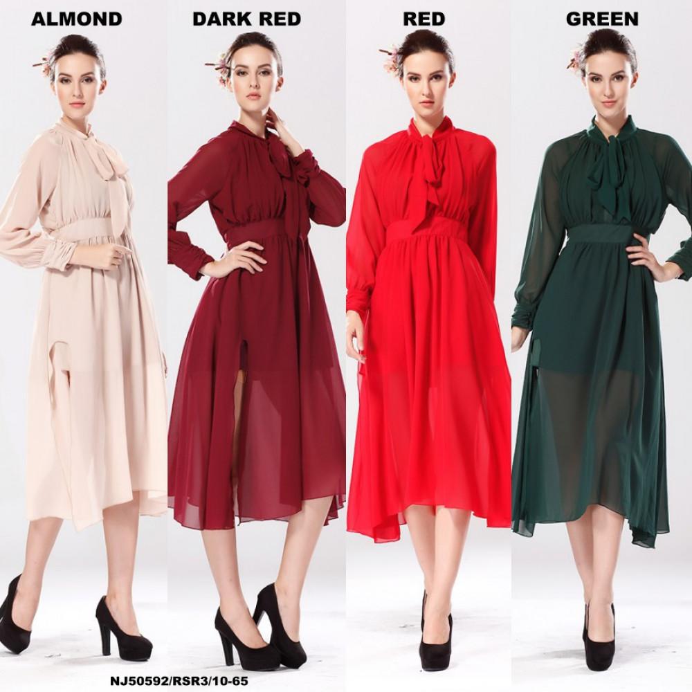 NJ EuropeFashion Stylish Chiffon Dress