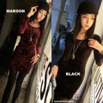 NJ Fashion Trendy Velvet BodyCon Dress