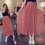 NJ Fashion High Waist Polka Dots Design Long Skirt