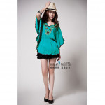NJ DesignerCollections Embroidery Loose Blouse