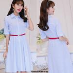 NJ EuropeFashion Pretty Dress Blue