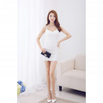 NJ Fashion Sexy Lace Dress White