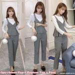 NJ DesignerCollections Feminine Peplum Suit