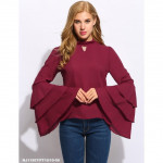NJ ExclusiveCollections Layered Ruffles Top