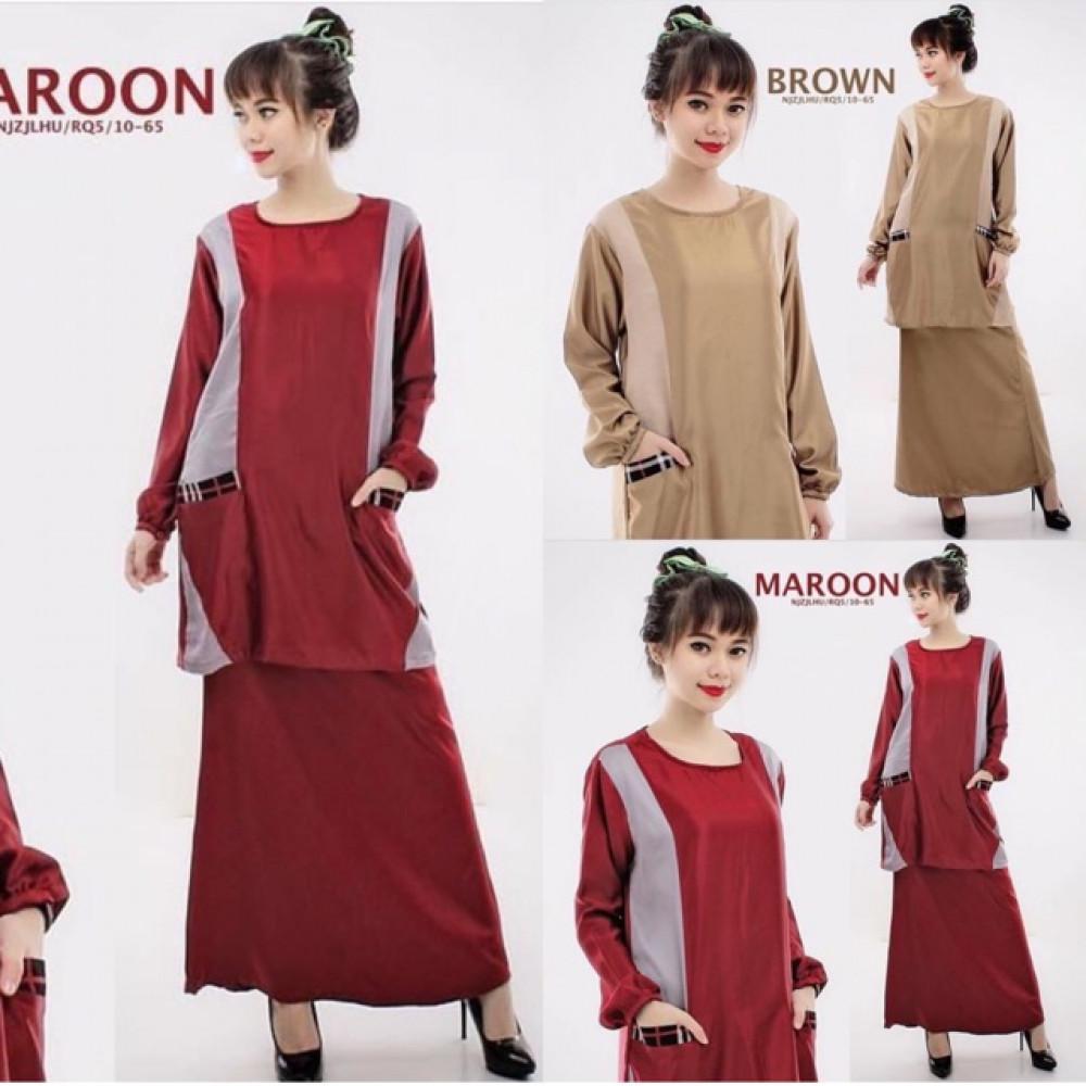 NJ ExclusiveFashion Pockets Design Modern Kurung