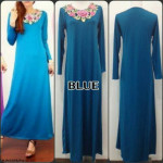 NJ SeoulFashion Flower Embroidery Simple Jubah
