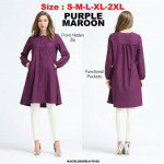 NJ ModernMuslimah Hidden Zip Tunic Blouse