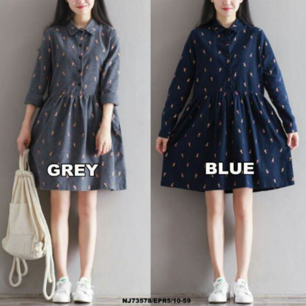 NJ Fashion Stylish Collared Dress